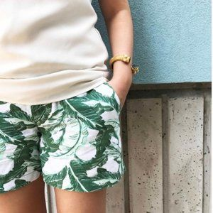 3/$30 Old Navy | Linen Palm Print Tropical Shorts